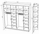 Чертежи шкафов купе с размерами