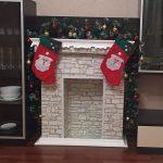 Новогодний камин своими руками пошаговая инструкция из коробок