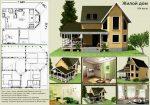 Планы двухэтажных домов и коттеджей бесплатно чертежи и фото