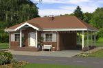 Проекты каркасных одноэтажных домов до 100