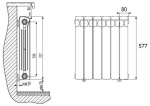 Размер алюминиевых радиаторов отопления