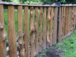 Забор на даче своими руками из горбыля