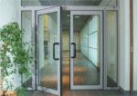 Алюминиевые двери распашные