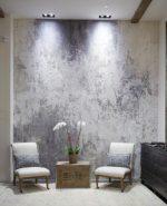 Фактурная краска для стен фото в интерьере