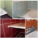 Как заделать между ванной и стеной большой зазор
