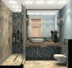 Красивые ванные комнаты с душевой кабиной фото