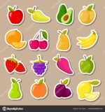 Стикеры фрукты